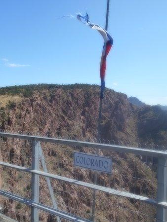 Colorado markings from the bridge