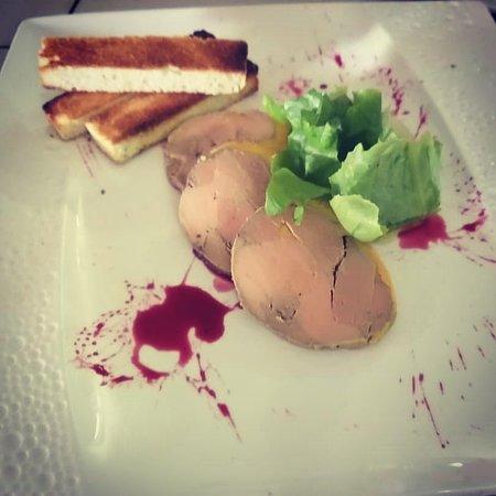 Foie gras /fleur d hibiscus