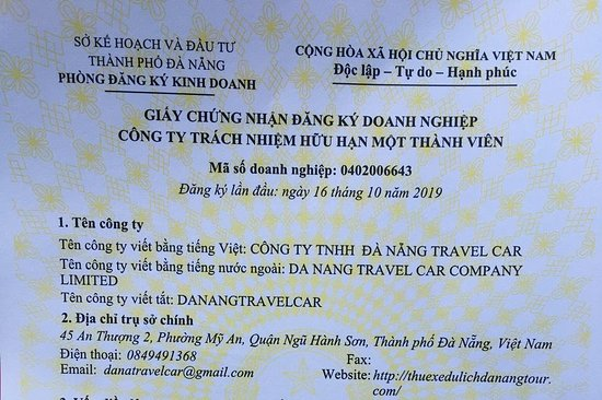 Da Nang Travel Car Company