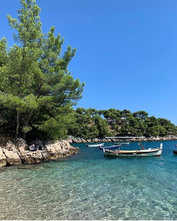 Murvica, Croatie : The view from the beach
