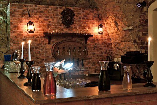 Wine in historical hall