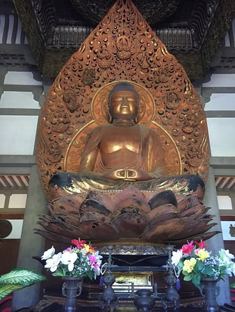 North Shore Island Tour: Buddha in the temple - please take off shoes at entrance and remain quietly respectful