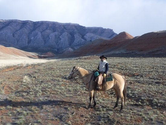 Shell, WY: Just one of many horse rides through the countryside near the ranch.