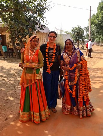 Aagman India Camp, Pushkar : Such a warm welcome as we if were VIPS.