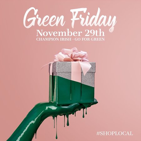 As Black Friday is fast approaching, we are asking you to shop local and support local Irish designers and businesses. We encourage you to, discover, buy, support and love Irish Design.    Champion Irish. Go For Green. #ShopLocal  https://www.kilkennyshop.com/