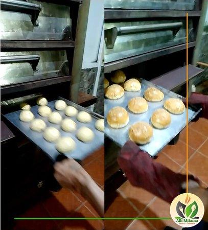 Baking our veggie burger bread