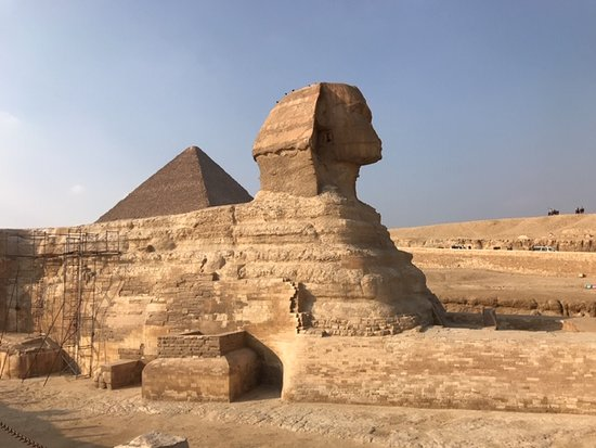 All alone at the phenomenal Sphinx!