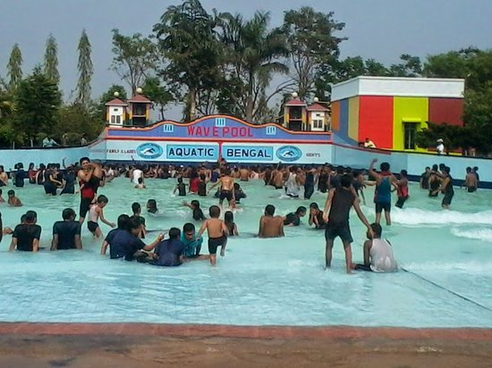"""Malda District, Индия: A """"Wave Pool"""" is a swimming pool in which there are artificially generated, reasonably large waves, similar to those of the ocean. Wave pools is the heart of water parks."""