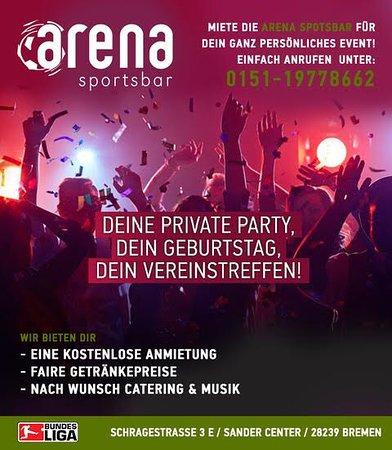 Arena Sportsbar Eventbar im Sander Center