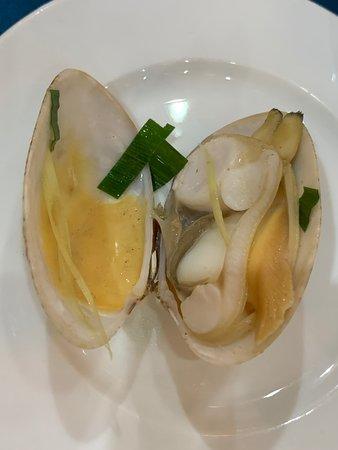 Fleshy, sweet delicious clam.