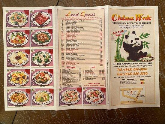 china wok myrtle beach  menu prices  restaurant
