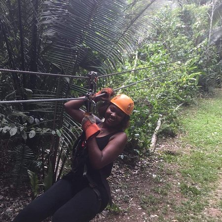 Caves Branch, Belize: The closest thing to feeling like a bird. Zip-Line through the lush forest canopy of Belize.