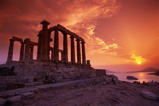 Tour al tramonto di Cape Sounio e