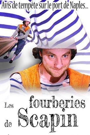 Affiche des Fourberies de Scapin au Théâtre Espace Marais