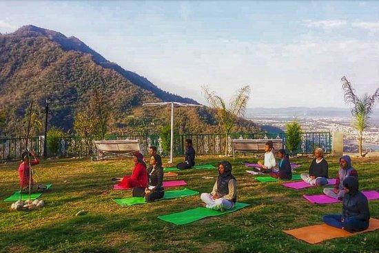 Outdoor Yoga Retreat Rishikesh India