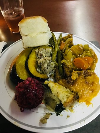 Atlanta, IN: Plate of the Vegan Thankgiving Dinner - Home made everything!