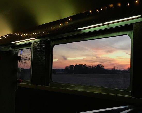 Atlanta, IN: Gorgeous views while riding the train