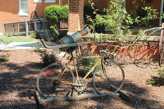 The Gillen House Bed And Breakfast: The Maxeys Firefly - a tribute to the future Firefly Trail Bike Path running from Athens to Union Point GA - right in front of the Gillen House