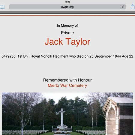 Remembering my uncle Jack Taylor