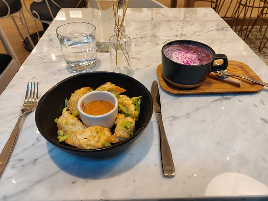 Latte and dumplings