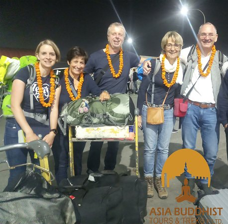 Happy guest from Germany for their adventure trek to Ghorepani and ABC trek oct-2019