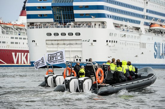 Helsinki Sightseeing with RIB boats. Local guide tells about maritime history of City Of Helsinki...