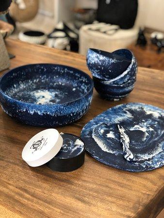 Navy resin tableware