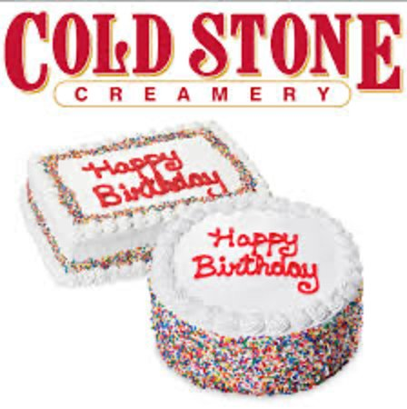 Surprising Birthday Cakes Picture Of Cold Stone Creamery Lincoln City Personalised Birthday Cards Rectzonderlifede