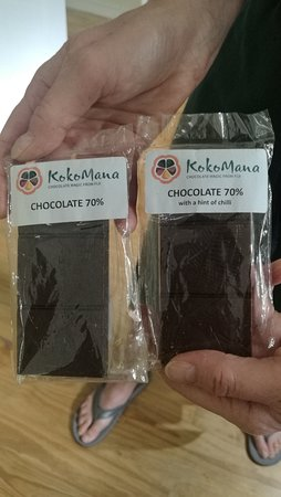 They sell a limited amount of chocolate is manufactured from pure cocoa and Fiji sugar. Yummy...