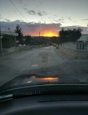 Impalata, Italia: tramonto