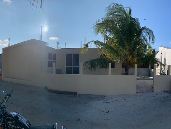 Redy to open new guesthouse in N.atoll, Fodhdhoo, Maldives 🇲🇻. Sunrise 🌅 front view.  Always Welcome 🙏🥂