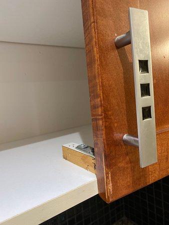Broken Kitchen cabinet door - Picture of Doubletree by ...