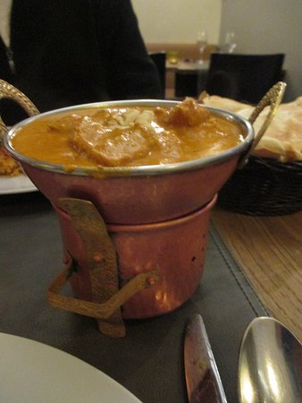 Leuven, Indian restaurant Masalatop, Chicken Korma