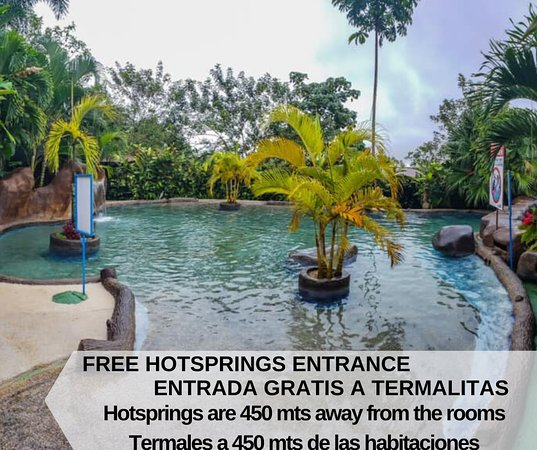 The Hotel Termalitas Relax: This hotsprings are 450 mts away from the rooms, but they are included on day per each night of stay!