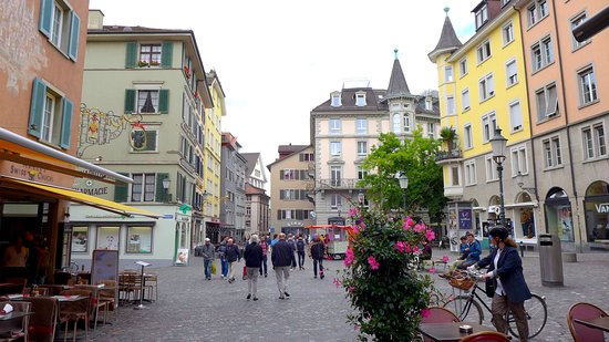 Niederdorf, Switzerland: One of the districts of the old city in Zurich