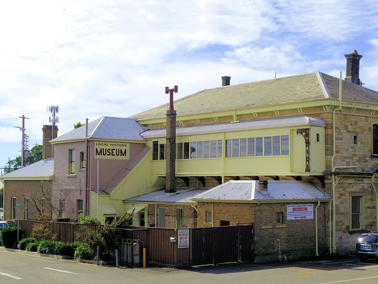 Exterior of the museum. The museum is contained in the old Mount Victoria Railway Refreshment Room. There are 16 rooms full of historic displays.