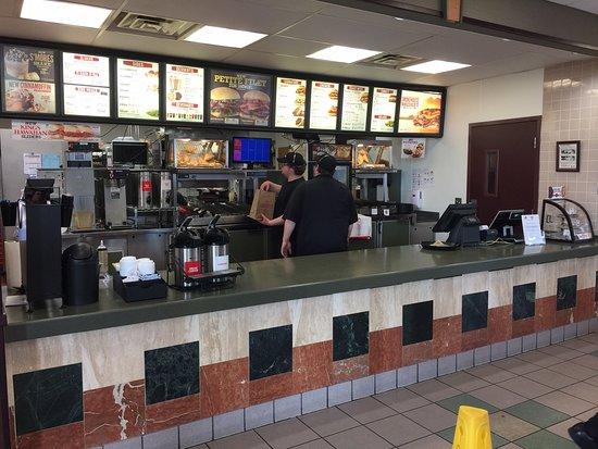 Ottawa, OH: Ordering counter and menu