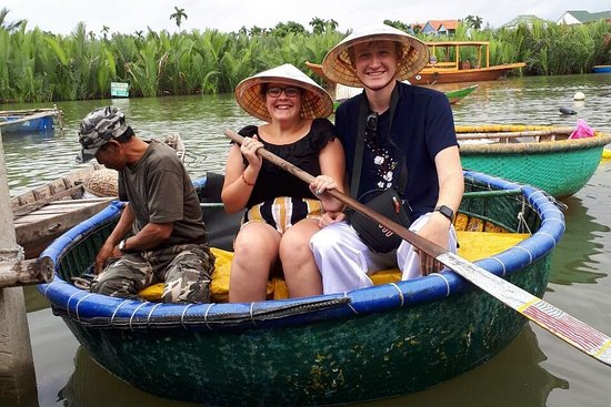 Hoi an Basket boat,crab fishing and cooking class in cam Thanh village