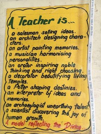 What is a teacher?