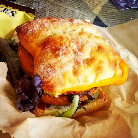 Classic Black-Bean Double-Stack Burger with Melted Cheddar on an Artisan Bun