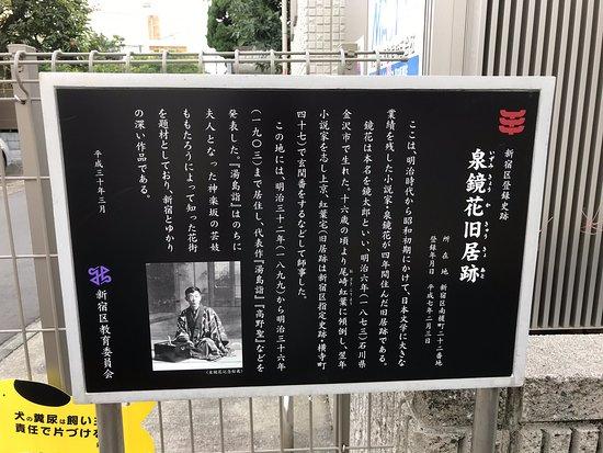 The Site of Kyoka Izumi's Former Residence