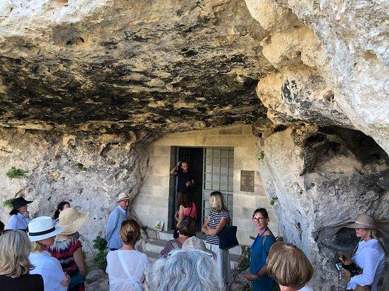 Province of Matera, İtalya: Entrance to the Cripta del peccato Originale