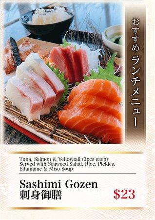 Sashimi Gozen (Lunch Only)