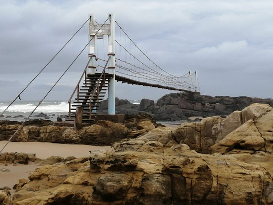 "Mazeppa Bay, South Africa: The bridge to the ""Island"""