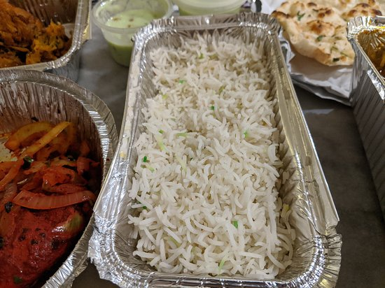 """Taste of Raj: The Pilau Rice described in the menu as: """"Fragrant basmati rice cooked with ghee & saffron, milk & cardamom"""". I phoned them and raised this concern and they said this dish should be expected."""