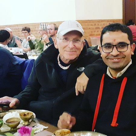 Nepali Dal-bhat with Jamie! Who had spent 90 days arround Nepal and @ramblers_hostel  #Nepal #Kathmandu #kathmanduvally #nepalidinner #smilesquad #smiles #enlightenment #blessed #loveandlight #transtravel #transtraveler #canadiantraveller #southasia #sunnyday #colourseverywhere #colourful #coloursofnepal #ilovenepal #namaste #namastenepal #hostellife #backpacker #hostel #travel #hostelworld #hotel #happyhour #turismointerno