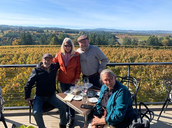 First winery stop in Willamette Valley with family