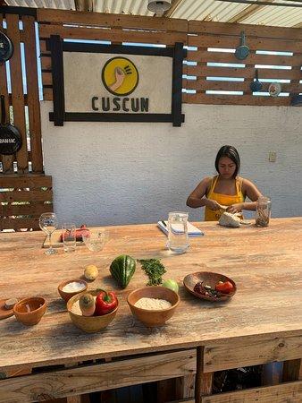 Clase de cocina guatemalteca y tour de mercado: The roof top kitchen - spotlessly clean!