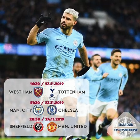 We invite football fans to watch great games at Harbour! HARBOUR Indian Restaurant & Pub 📍 Port Baku, 153 Neftchilar ave., Baku, Azerbaijan ☎ +994(12)4048205 📱 +994(50)5465500 🌐 www.harbour.az
