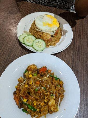 Nasi Goreng and Kway Teow Goreng